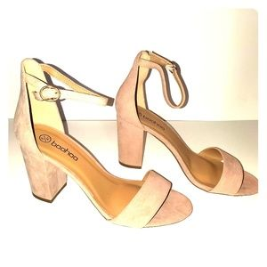 Two part block heels